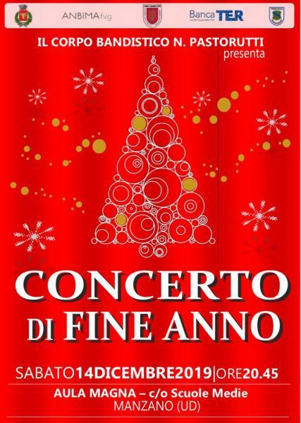 Locandina concerto di fine anno 2019