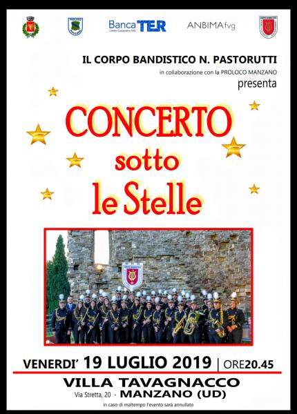 Concerto sotto le stelle in Villa Tavagnacco