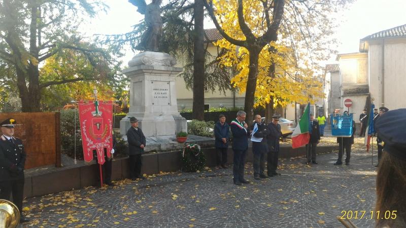 5 novembre 2017. Festa Unità d'Italia a Manzano
