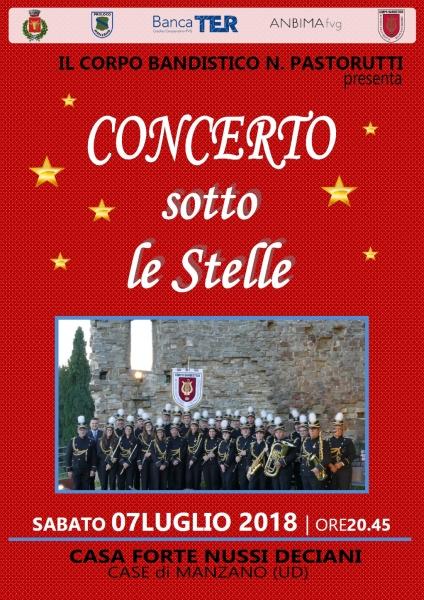 locandina concerto estate 2018
