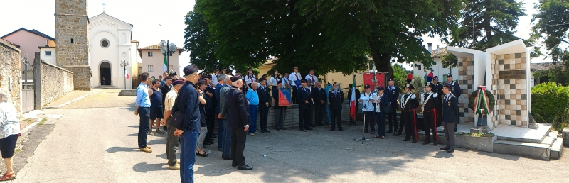 40° anniversario di rifondazione dell'Associaizone Nazionale Carabinieri di Manzano